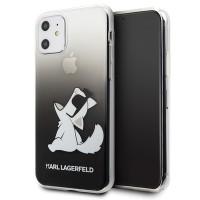 Karl Lagerfeld Hülle Choupette Fun iPhone 11 Schwarz KLHCN61CFNRCBK