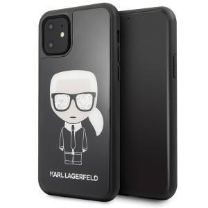 Karl Lagerfeld Iconic Karl Glitter Hülle KLHCN61DLFKBK iPhone 11 Schwarz