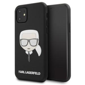 Karl Lagerfeld Iconik Karl Embossed & Glitter Hülle KLHCN61GLBK iPhone 11 Schwarz