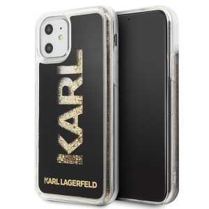 Karl Lagerfeld Karl logo Glitter Hülle KLHCN61KAGBK iPhone 11 Schwarz