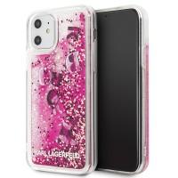 Karl Lagerfeld Hülle Glitter Floating Charms  iPhone 11 Pink KLHCN61ROPI
