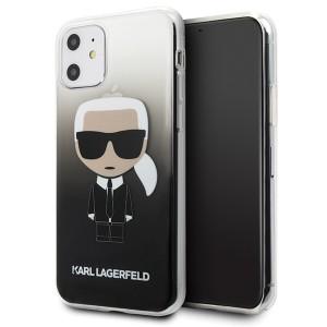 Karl Lagerfeld Gradient Ikonik Karl Hülle KLHCN61TRDFKBK iPhone 11 Schwarz
