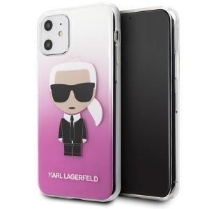 Karl Lagerfeld Gradient Ikonik Karl Hülle KLHCN61TRDFKPI iPhone 11 pink