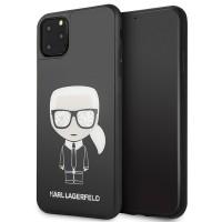 Karl Lagerfeld Iconic Karl Glitter Hülle KLHCN65DLFKBK iPhone 11 Pro Max Schwarz