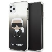 Karl Lagerfeld Gradient Ikonik Karl Hülle KLHCN65TRDFKBK iPhone 11 Pro Max Schwarz