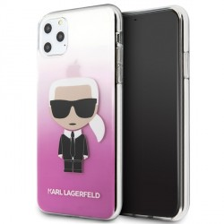 Karl Lagerfeld Gradient Ikonik Karl Hülle KLHCN65TRDFKPI iPhone 11 Pro Max pink
