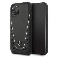 Mercedes Benz Pattern II Serie Lederhülle MEHCN58CLSSI iPhone 11 Pro Schwarz