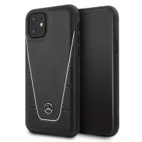 Mercedes Benz Pattern II Serie Lederhülle MEHCN61CLSSI iPhone 11 Schwarz