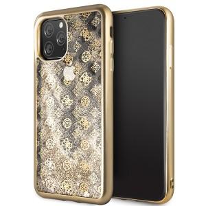 Guess 4G Peony Liquid Glitter Hülle GUHCN65PEOLGGO iPhone 11 Pro Max Gold