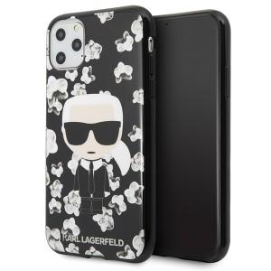Karl Lagerfeld Flower Ikonik Karl Hülle iPhone 11 Pro Schwarz KLHCN58FLFBBK