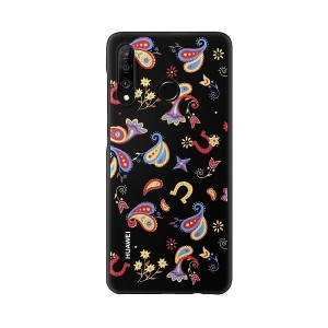 Original  Huawei Colorful P30 Lite TPU Case Flower black