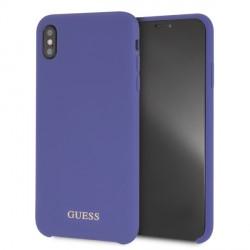 Guess Silicone Hüll GUHCI65LSGLUV iPhone Xs Max Purple