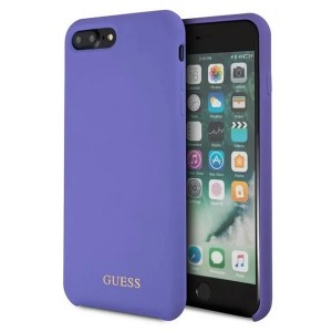 Guess Silicone Hülle GUHCI8LLSGLUV iPhone 8 Plus / 7 Plus Purple