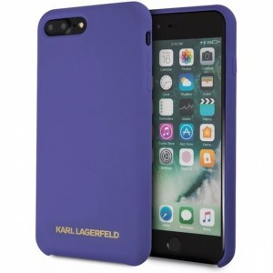 Karl Lagerfeld Silicone Hülle KLHCI8LSLVOG iPhone 8 Plus / 7 Plus Purple