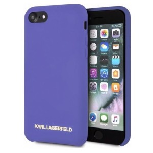 Karl Lagerfeld Silicone Hülle KLHCI8SLVOG iPhone 8 / 7 Purple