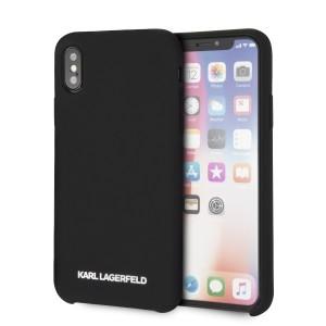Karl Lagerfeld Silicone Hülle KLHCPXSLBKS iPhone Xs / X Schwarz