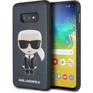 Karl Lagerfeld Iconic Karl Embossed Hülle KLHCS10LIKPUBL Samsung Galaxy S10e Blau