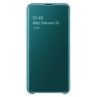 Original Samsung Clear View Cover EF-ZG970CG Galaxy S10e G970 grün