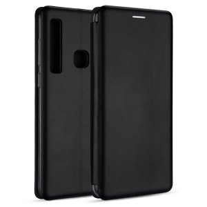 Premium Handytasche Samsung Note 10 Slim Magnetic Schwarz