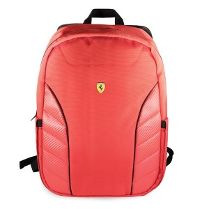 "Ferrari Notebook / Laptop Rucksack On Track Scuderia Carbon 15"" Rot"