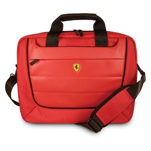 """Ferrari Notebook / Laptop Tasche Scuderia FECB15RE 15"""" Carbon Rot"""