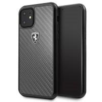 Ferrari Heritage Carbon Schutzhülle iPhone 11 schwarz FEHCAHCN61BK