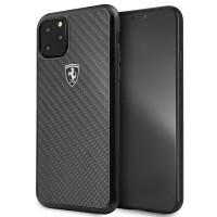 Ferrari Heritage Carbon Hülle FEHCAHCN65BK iPhone 11 Pro Max schwarz