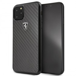 Ferrari Heritage Carbon Schutzhülle iPhone 11 Pro Max schwarz FEHCAHCN65BK