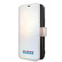 Guess Iridescent Tasche GUFLBKN65BLD iPhone 11 Pro Max Silber