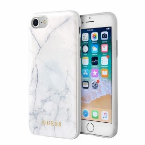 Guess Marble Collection Hülle GUHCI8HYMAWH iPhone 8 / 7 Weiß