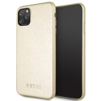 Guess Iridescent Hülle GUHCN65IGLGO iPhone 11 Pro Max Gold
