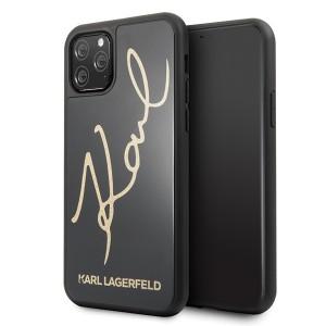 Karl Lagerfeld Signature Glitter Hülle KLHCN58DLKSBK iPhone 11 Pro Schwarz