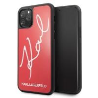 Karl Lagerfeld Signature Glitter Hülle KLHCN58DLKSRE iPhone 11 Pro Rot