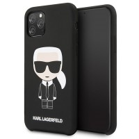 Karl Lagerfeld Silicone Iconic Hülle KLHCN58SLFKBK iPhone 11 Pro