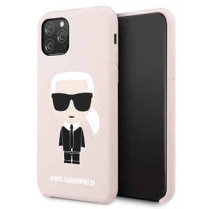 Karl Lagerfeld Silicone Iconic Hülle KLHCN58SLFKPI iPhone 11 Pro Hellrosa