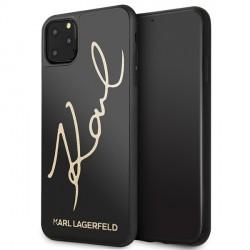 Karl Lagerfeld Glitter Karl Signature Hülle KLHCN65DLKSBK iPhone 11 Pro Max schwarz