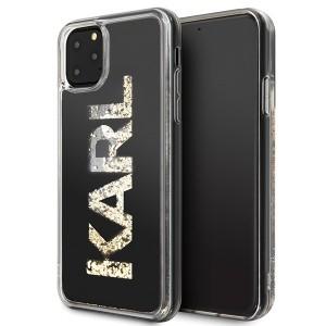 Karl Lagerfeld Glitter Karl Logo Hülle KLHCN65KAGBK iPhone 11 Pro Max