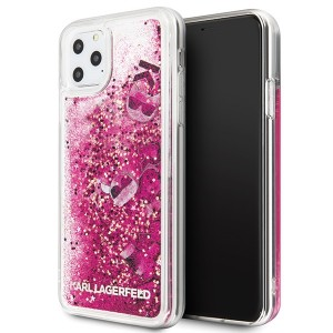 Karl Lagerfeld Glitter Floating Charms Hülle KLHCN65ROPI iPhone 11 Pro Max rosegold