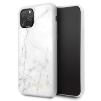Guess Hülle GUHCN58HYMAWH iPhone 11 Pro weiß Marble / Marmor