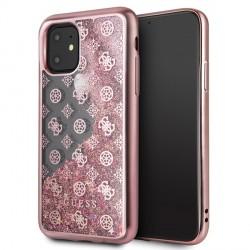 Guess 4G Peony Liquid Glitter Schutzhülle iPhone 11 Rose Gold GUHCN61PEOLGPI