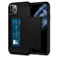 Spigen Slim Armor CS Hülle iPhone 11 Pro Max schwarz