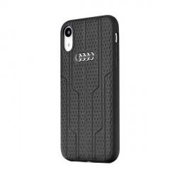 AUDI Lederhülle Kollektion A6 / D1 iPhone Xs / X schwarz