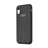 AUDI Lederhülle Kollektion A6 / D1 iPhone XR schwarz