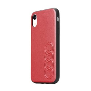 AUDI Lederhülle Kollektion TT / D1 iPhone XR Rot