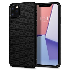 Spigen Liquid Air Hülle iPhone 11 Pro Max schwarz