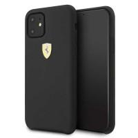 Ferrari Silikon Schutzhülle iPhone 11 schwarz FESSIHCN61BK