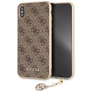 Guess 4G Charms Hülle GUHCI65GF4GBR iPhone Xs Max Braun