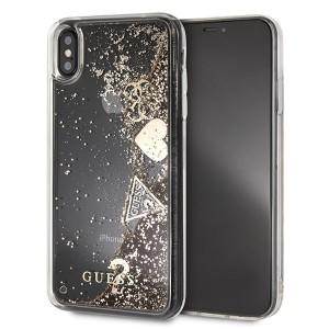 Guess Hülle Glitter Hearts Hülle GUHCI65GLHFLGO iPhone Xs Max gold