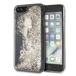 Guess Glitter Hearts Hülle GUHCI8LGLHFLGO iPhone 8 Plus / 7 Plus Gold