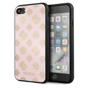 Guess Peony G Double Layer Glitter Hülle GUHCI8TGGPLP iPhone 8 / 7 light pink